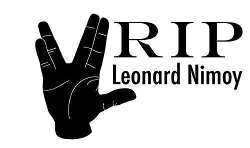 "R.I.P Leonard Nimoy - Car Decal / Spock Sticker - 10""x6"""