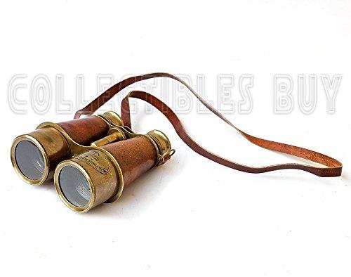 Victorian Marine Brass Leather Binocular Sailor Instrument London 1915 4
