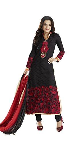 Adah Unstitched Georgette Salwar Kameez -449-5007 (black)
