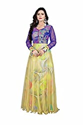 Laxmi Fashion Multi-Colored Georgette Anarkali Gown Semi Stitched Dress Material
