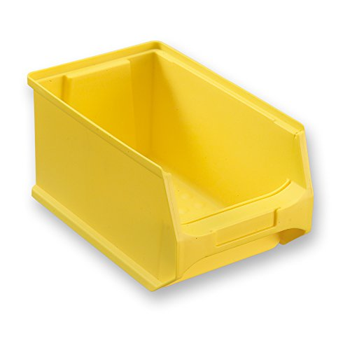 sichtlagerbox 3 0 gelb abm 235x145x125mm txbxh kunststoff lagerboxen stapelboxen. Black Bedroom Furniture Sets. Home Design Ideas