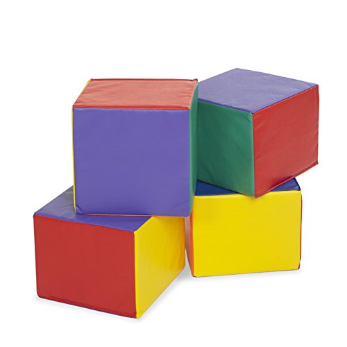ECR4Kids SoftZone Children's Carry Me Cube (4-Piece), Assorted Colors