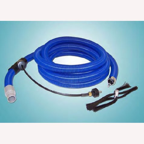 Air Care: 2 Inch Duct Cleaning Vacuum Hose and 35 ft 3/8 inch Cable Wi