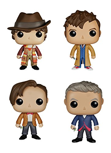 Funko Doctor Who POP! TV Vinyl Collectors Set: Fourth, Tenth, Eleventh, Twelfth Doctor Action Figure
