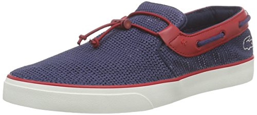 Lacoste Gazon Deck 216 1 Uomo Scarpe da barca Navy Red - 11 UK