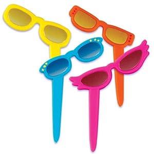 Dress My Cupcake DMC41SNG-3 12-Pack Sunglasses Pick Decorative Cake Topper, Sea/Ocean/Nautical/Summer, Assorted