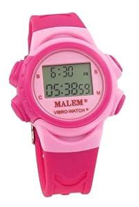 Malem Vibro-Watch 12 Alarm Vibrating Watch - Pink