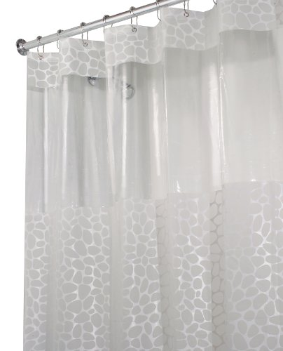 InterDesign Pebblz View EVA Shower Curtain, Frosted White