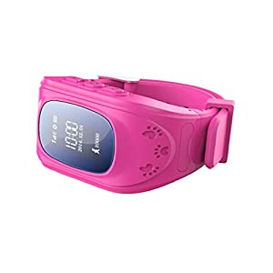 ROYALFiT SIM Card SOS LBS Position Child GPS Tracker Watch PT-AW2 (Rosy Red)