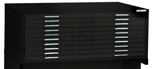 Alvin 7979Cb Ten-Drawer File - Black