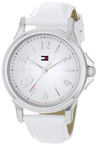 Tommy Hilfiger Women's 1780965 Fashion Quartz Movement White and Silver Dial Watch