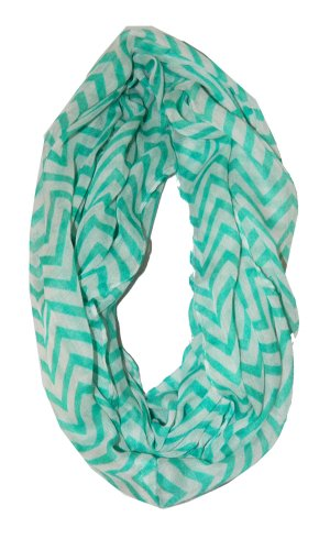 Cambridge Select Soft Chevron Sheer Infinity Scarf in Contrasting Colors width=