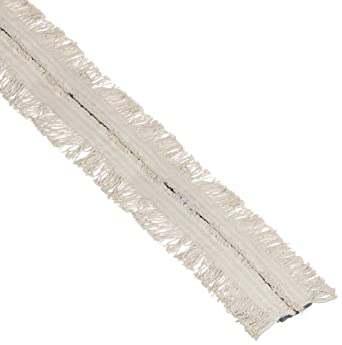 "Impact 16500 Roll Flat Cut-to-Length Disposable Cotton Dust Mop Roll, 40' Length x 5"" Width, White, For Conventional Frames"