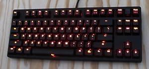Ducky DK9087 Shine II Tenkeyless Red LED Backlit Mechanical Keyboard (Red Cherry MX)