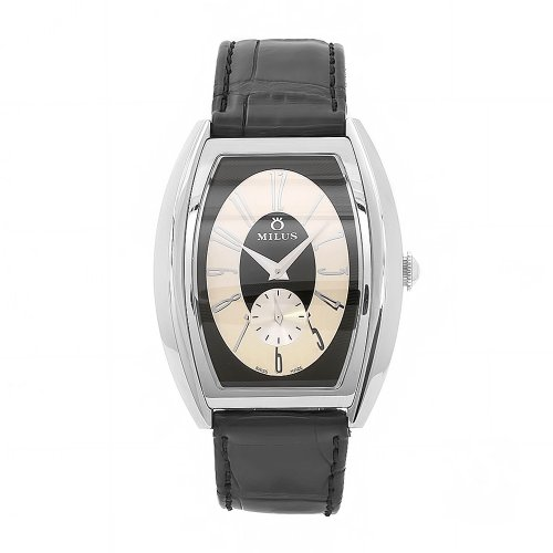 Milus Men's AGE017 Agenios Handwinding Stainless Steel Exhibition Caseback Watch