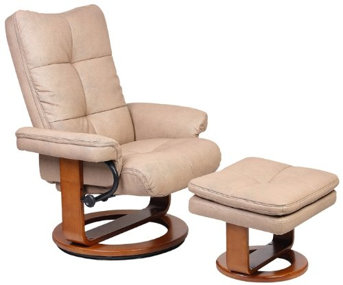 Swivel Recliner And Ottoman front-1063121