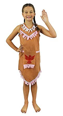 INDIAN GIRL COSTUME FANCY DRESS OUTFIT CHILDS BOOK WEEK CHARACTER NATIVE AMERICAN RED INDIAN COSTUME SMALL
