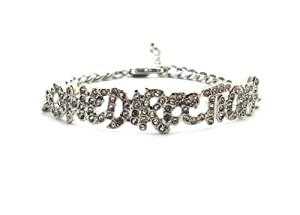 Rhinestone One Direction Infinity Directioner Bracelet W 4mm Link Chain Xb286r by NYfashion101inc