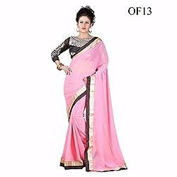 Sai Vira Fashion Chiffon Embroidered Saree (SVF56801230830_Pink)