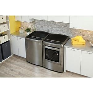 LG PAIR SPECIAL-Mega Capacity High Efficiency Top-Load Laundry System *Graphite Steel* (WT1701CV+DLEY1701V)