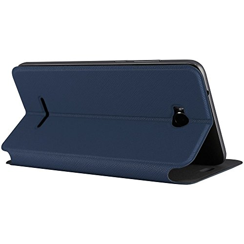 Molife Brand Flip Cover Case For Micromax Canvas Spark 3 Q385 (Navy Blue)