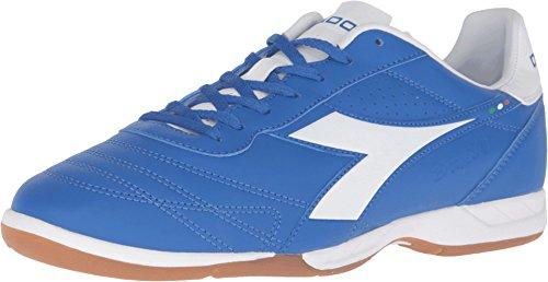 Diadora Men's Brasil R ID Soccer Shoe (11, Royal / White)