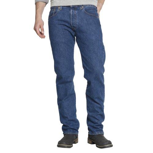Levi's 501, Jeans Uomo, Blu (Stonewash), 38W/36L