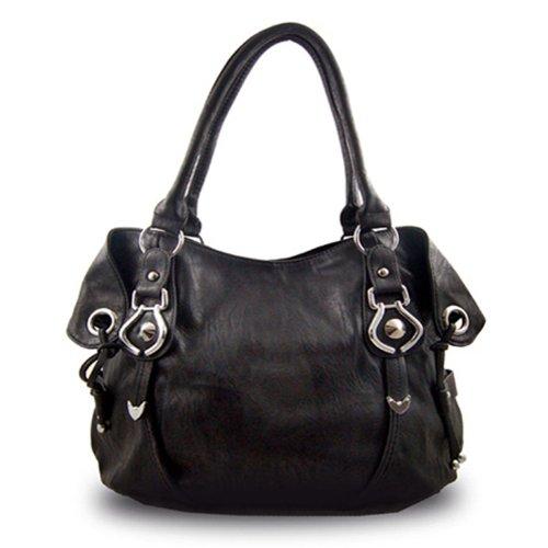 New York Hobo Handbag (Black)
