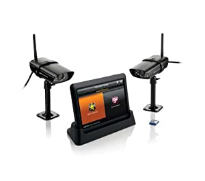 Uniden Guardian G755 Advanced Wireless 7-Inch Screen Video Surveillance System with 2 Outdoor Cameras (Black)