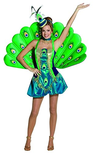 [Mememall Fashion Adult Womens Light Weight Deluxe Peacock Costume Cosplay Bird] (Deluxe Plush Cow Mascot Costumes)