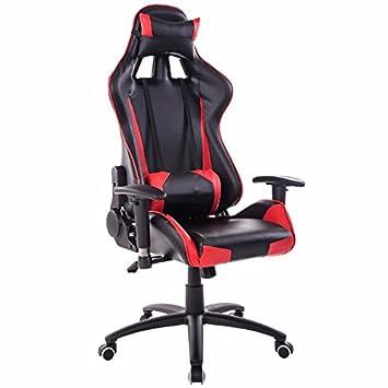 Sedia elettrica reclinabile sedia computer home sedi giochi Internet sports racing sede Sedia ufficio,Black-Red,puntale in acciaio