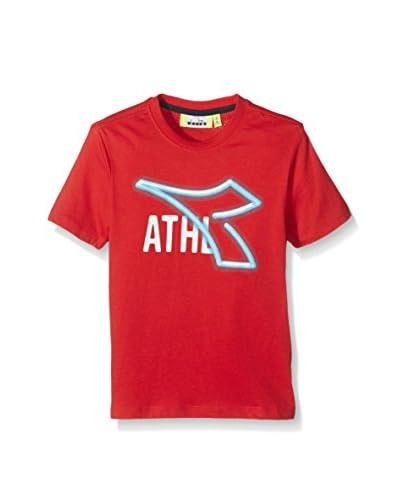 Diadora Camiseta Manga Corta Rojo