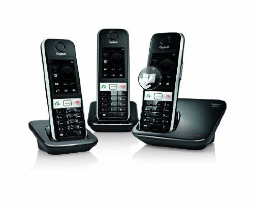 Gigaset S820A Cordless DECT Phone with Touch Screen, Answer Machine and Call Blocker (Pack of 3) images