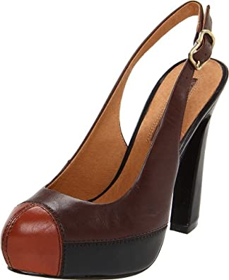 Modern Vintage Women's Sylvia Slingback Pump, Brown Rust/Cigar, 11 M US