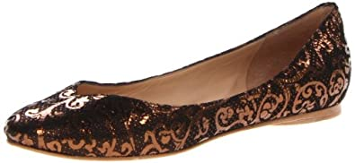 Belle by Sigerson Morrison Women's Adria3 Ballet Flat,Bronzo Metallic,6 M US