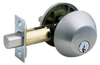 Schlage B360nv619 Single Cylinder Deadbolt Satin Nickel