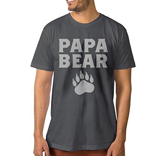 Papa Bear Cute Fathers Day Gift Men Short Sleeve Tee Shirts