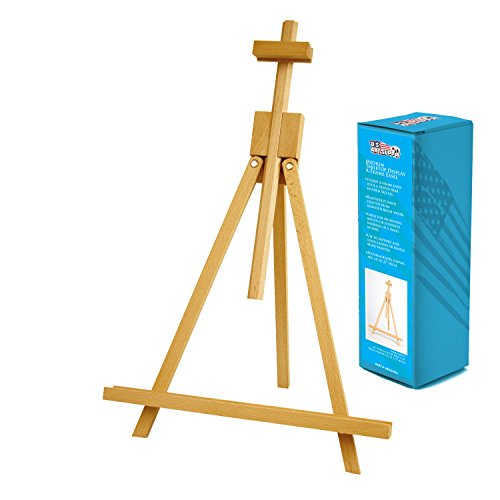 US Art Supply Topanga 18 to 31-1/2 inch High Adjustable Medium Portable Wood Travel A-Frame Easel (Table Top Painting Easel compare prices)