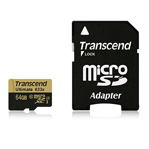 Transcend Ultimate 633x 64GB MicroSDXC Class 10 (95MB/s) UHS-1/U3 Memory Card (With Adapter)