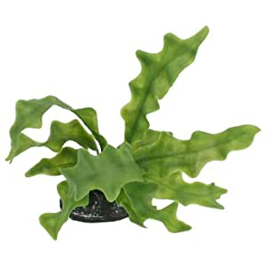 Aquarium decor green artificial kelp leaves water grass for Artificial kelp decoration