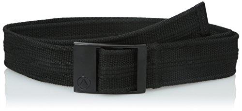 Volcom Step Over Web Belt-Cintura, Uomo, Gürtel Step Over Web Belt, nero, Taglia unica