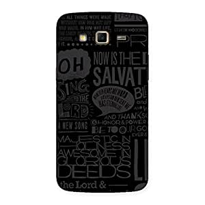 Premium Grey Typograph Back Case Cover for Samsung Galaxy Grand 2