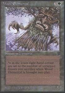 Magic: the Gathering - Wood Elemental - Legends