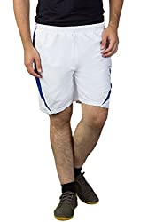 Greenwich United Polo Club Men's Polyester Shorts (GUPC25_White_XX-Large)