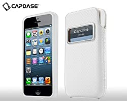 Capdase ID Pocket Value Set Xpose Dot + Polka XL Case for iPhone 5 -Solid White