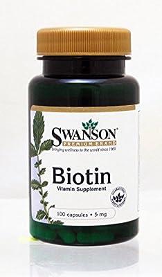 Swanson Biotin 5mg 100caps