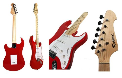 Rockburn ST Style Electric Guitar - Red