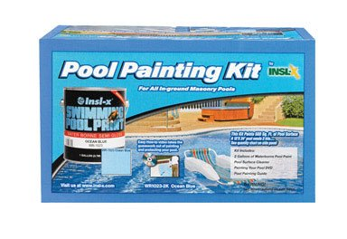 Insl x waterborne pool paint kit semi gloss ocean blue 2 - Insl x swimming pool paint reviews ...