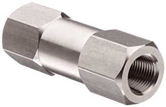 Parker C Series Stainless Steel 316 Check Valve, 1 psi Cracking Pressure, NPT Female