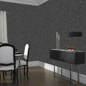 Graham and Brown Trellis Wallpaper - Charcoal from New A-Brend